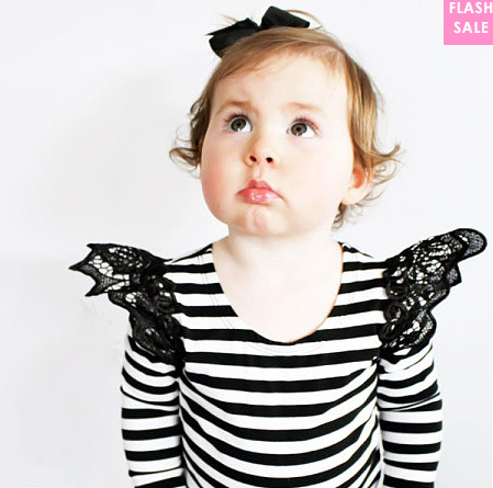 Lace Patchwork Wings Decorate Top